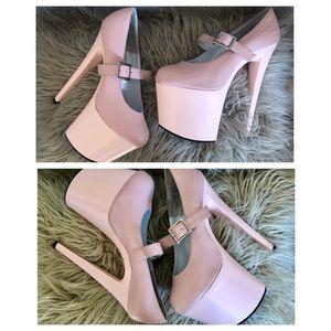 🎀Baby pink🌸Pleaser-style 8inch platform heels